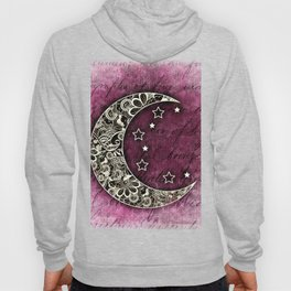 MOON & STARS CELESTIAL TAPESTRY COLLAGE Hoody
