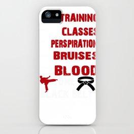 One Black Belt Taekwondo Karate Martial Arts design iPhone Case
