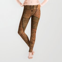 Map of the United States (1812) Leggings