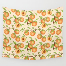 Practice What You Peach - Peach Pattern Wall Tapestry