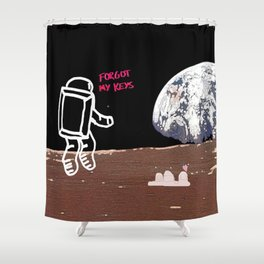 Houston, we have a problem... Shower Curtain