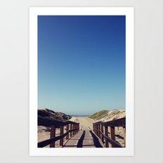 path to sea Art Print