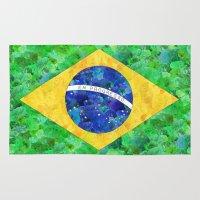 brasil Area & Throw Rugs featuring BRASIL em progresso by Bianca Green