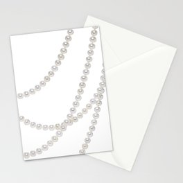White Pearls Stationery Cards