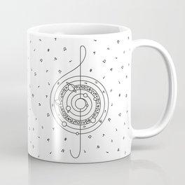 Life in Music (black-and-white) Coffee Mug