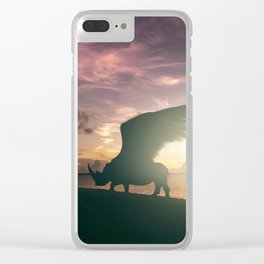 Flying Rhino, Fantasy art, Surreal Africa, Wildlife art Clear iPhone Case
