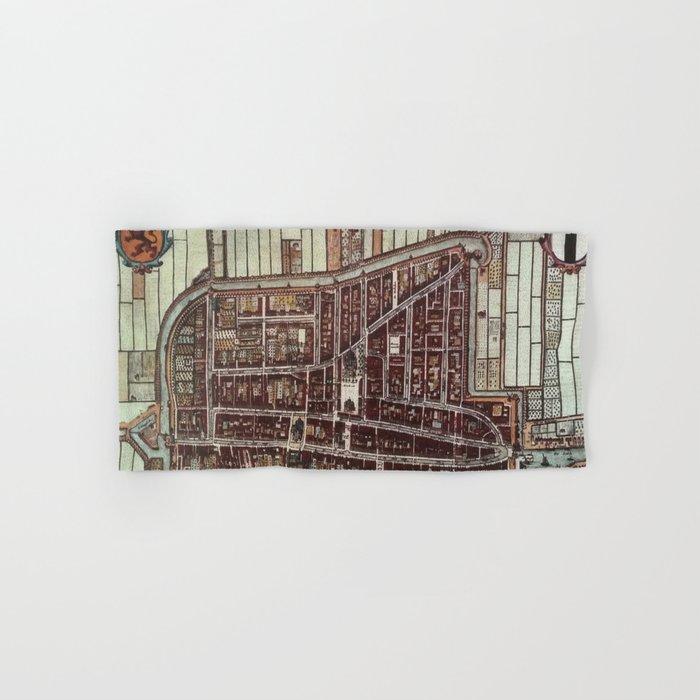 Replica city map of Delft 1649 Hand & Bath Towel