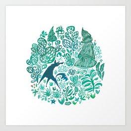 Forest Wolf Art Print