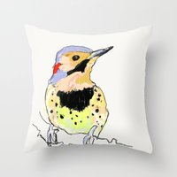 dot Throw Pillows featuring Dot by fuglsangasong