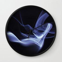 Lyrical Smoke Pattern Wall Clock