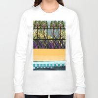 pool Long Sleeve T-shirts featuring Tropical Pool by Abstract Designs