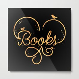 Heart Books Metal Print