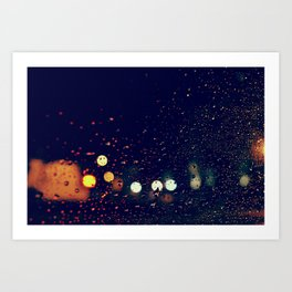 la pluie Art Print