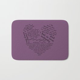 Quotes of the Heart - Cecilos (Black) Bath Mat