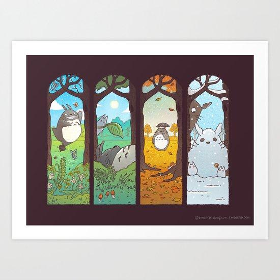 Spirit of the seasons Art Print