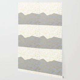 Ab Half and Half Grey Wallpaper