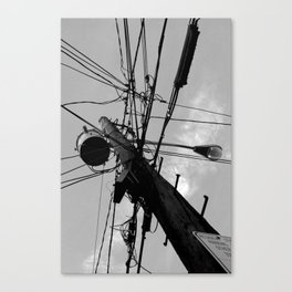 Urban spider web Canvas Print