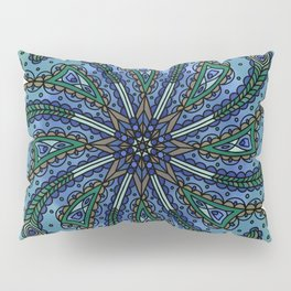 Own Your Beauty - Peacock Feather Mandala Pillow Sham