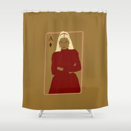 Ace of Diamonds Shower Curtain