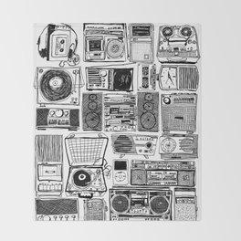 Music Boxes Throw Blanket
