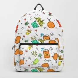 Fast Food Pattern Backpack