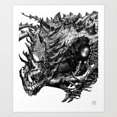 Dragon Machine [Digital Fantasy Illustration] Art Print