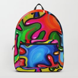 Vibrant Paint Splats Backpack