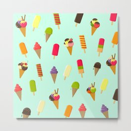 I scream 4 Ice Cream Metal Print