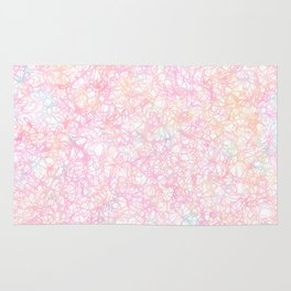 Colorful Modern Strings - Pearl Pastel Rug