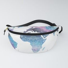 Galaxy World Map Fanny Pack