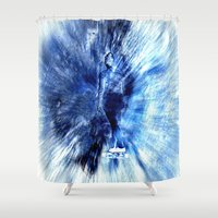 skateboard Shower Curtains featuring skateboard by  Agostino Lo Coco