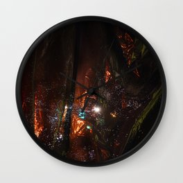 big ol' orange garbage galaxy Wall Clock