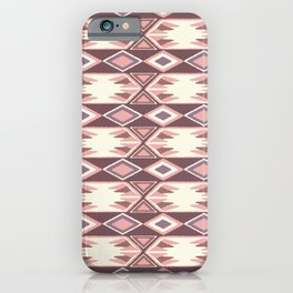 Pink Fall Ikat iPhone Case