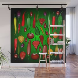 Chili Peppers Hot And Spicy Wall Mural