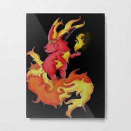 Ablaze Carbuncle Metal Print
