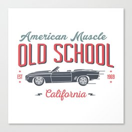 Old School American Muscle Canvas Print