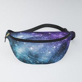 Purple Teal Galaxy Nebula Dream #1 #decor #art #society6 Fanny Pack