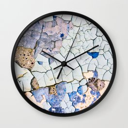 Textured peeling paint  Wall Clock