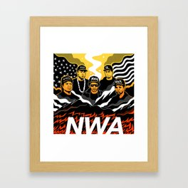 N.W.A Framed Art Print