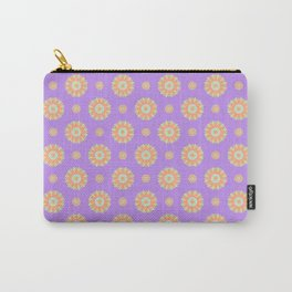 Purple Reign Floral Seamless Pattern Carry-All Pouch