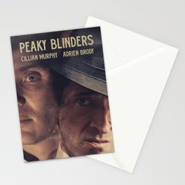 Peaky Blinders poster, Cillian Murphy is Thomas Shelby, Adrien Brody is Luca Changretta Stationery Cards