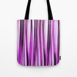 Lavender, Iris and Grape Stripy Pattern Tote Bag