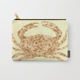 Sepia Floral Crab  Carry-All Pouch
