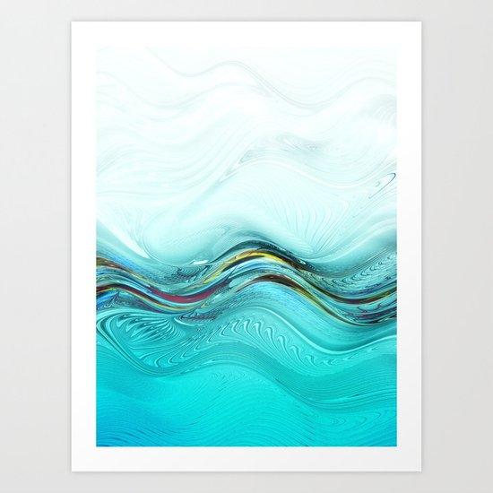 Fractal Wave Art Print