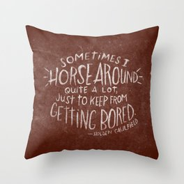 HOLDEN CAULFIELD Throw Pillow