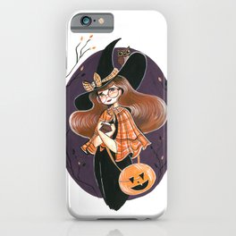 Vintage School Witch iPhone Case