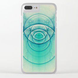 Egyptian Turquoise Scarab on Beige Sandstone Glyphs Clear iPhone Case