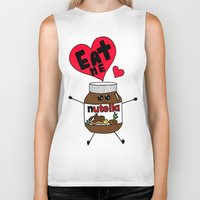 nutella Biker Tanks featuring Nutella by Aurelie
