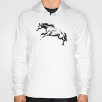horse Hoodies featuring Horse by Anna Shell