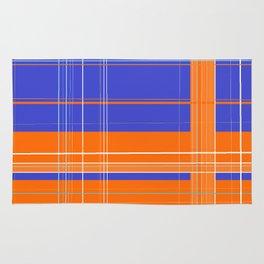 Orange and Blue Plaid Rug